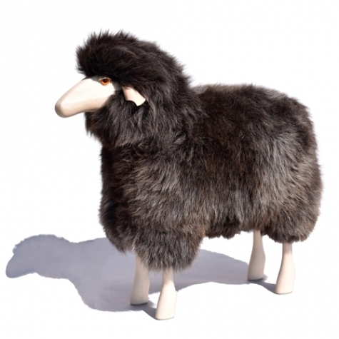 Sheep in life size grey brown