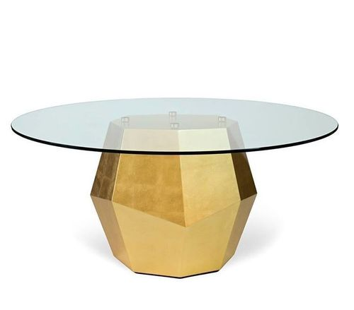 ROCK dining table gold leaf