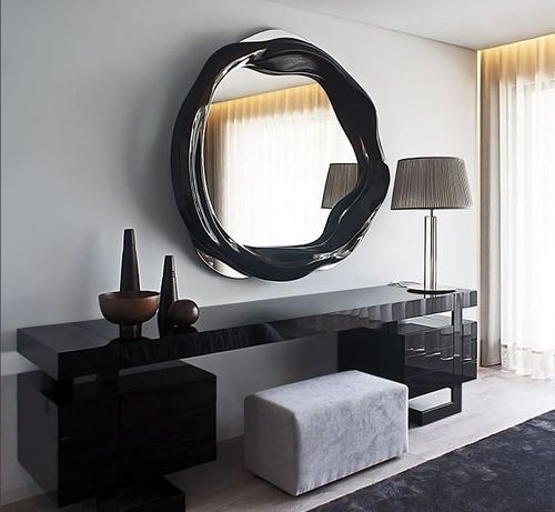 TWISTED mirror small black