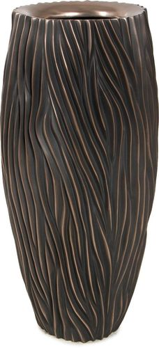 WAVE Bodenvase antik bronze