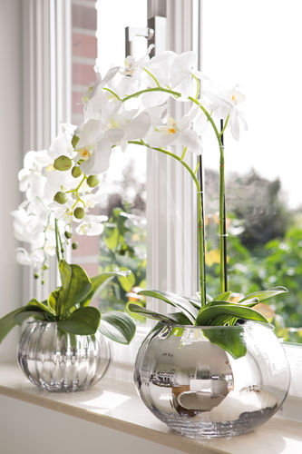ORCHIDEE silk flower with moss ball