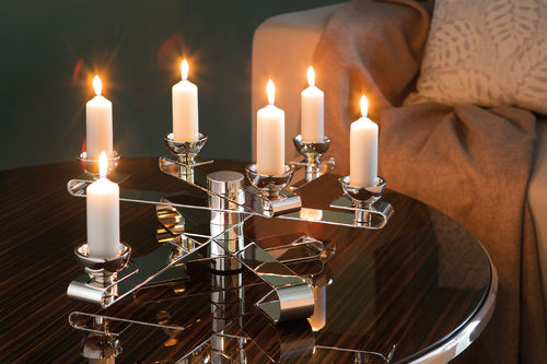 KANDELO candlestick for titanium candles and tea lights
